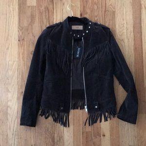 Suede Moto brown blank NYC jacket